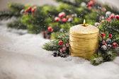 Christmas candle — Стоковое фото