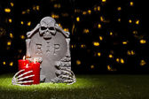 Halloween gravestone — Stock Photo