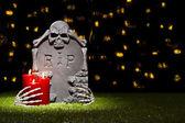 Halloween grafsteen — Stockfoto