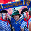KIEV, UKRAINE - JUNE 10: Swedish fans have fun during UEFA Euro — Stock Photo
