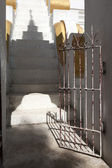Door in temple open to the shadow — Stock Photo