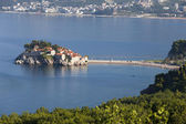 Island town St.Stephan in adriatic sea, Montenegro — Stock Photo