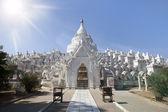 Vitt tempel, myanmar — Stockfoto