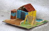 небольшой красочный дом — Стоковое фото