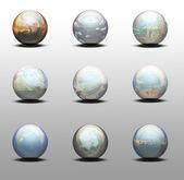 3d koule s panorama uvnitř — Stock fotografie