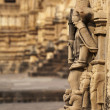 Bas relief of temples in Khajuraho, India — Stock Photo