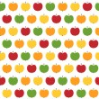 Seamless apple background — Stock Photo
