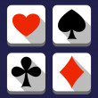 playing card icons — Stock Photo