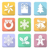 Christmas symbols set — Stock fotografie