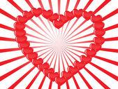 Vector fondo de corazón — Vector de stock