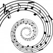 Stock Vector: Music spiral