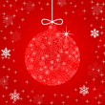 Christmas ball illustration — Stock Vector