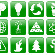 Постер, плакат: Green ecology icons
