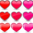 Hearts icon set — Stock Vector #36162241