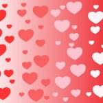 Vector hearts background — Stock Vector