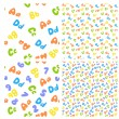 Colorful seamless pattern of letters and numbers — 图库矢量图片