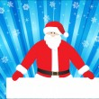 Santa claus with banner — Stock Vector
