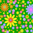Vector seamless bright floral background — Stock Vector