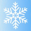 Snowflake on background of wavy lines of blue diamonds — Stock Vector