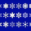 Vector snowflakes set — Stock Vector