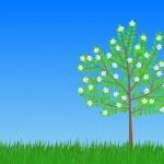 Flowering tree — Stock Vector #36163641