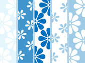 Rayures verticales avec des motifs de fleurs — Vecteur