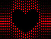 Dark Hearts background — Vector de stock