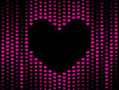 Dark Hearts background — Vettoriale Stock