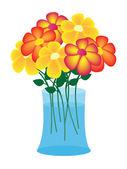Fleurs dans un vase — Vecteur