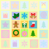 Christmas symbols set — Stockvektor