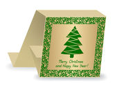 Abstract christmas card — Stock Vector