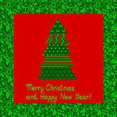 Abstraktní vánoční přání — Stock vektor