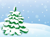 Vector winter scene — Stock Vector