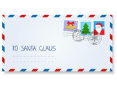 Letter to santa claus — Stock Vector