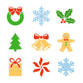 Christmas symbols set — Stock Vector