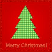 Kartki świąteczne z szycia choinki — Wektor stockowy