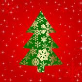 Abstract christmas tree — Stock Vector