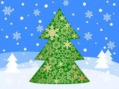 Christmas landscape — Stock Vector