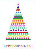 Abstracte kerstkaart — Stockvector