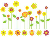 Bright flower garden — Stock Vector