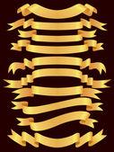 Gold banner set — Stock Vector
