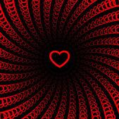 Srdce pozadí — Stock vektor