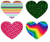 Hearts icon set — Stock Vector