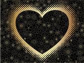 Vector heart background — Stock Vector