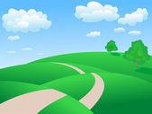 Rolling hills landscape — Stock Vector