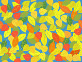 Seamless leaf tile in autumn colors. — Stock Vector