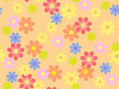 Vector seamless multi-colored floral pattern — Stock Vector
