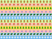 Seamless horizontal pattern of christmas symbols — Stock Vector