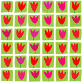 Seamless pattern of tulips — Stock Vector