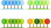 四个季节 — 图库矢量图片